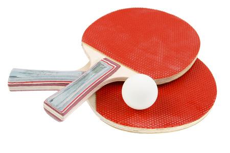 Photo pour Table tennis bats and ball - image libre de droit