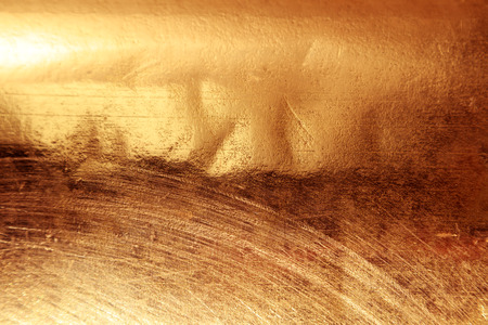 Photo for Scratched texture copper plating background close-up - Royalty Free Image