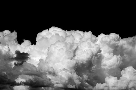 Photo pour White clouds on black background - image libre de droit
