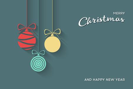 Ilustración de Vector Flat Christmas Balls. Stock vector illustration. - Imagen libre de derechos