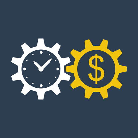 Illustration pour time is money - image libre de droit
