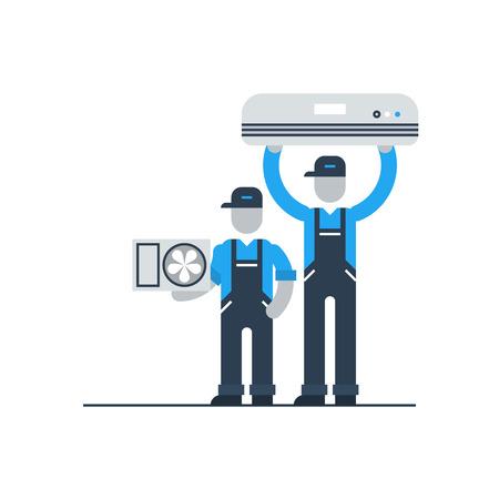Illustration pour Air conditioner service - image libre de droit
