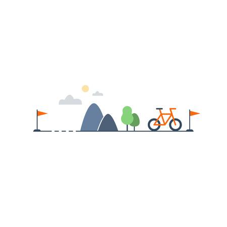 Ilustración de Outdoor cycling, sports activities - Imagen libre de derechos