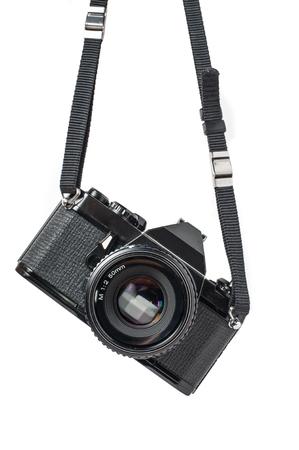 Foto de Old SLR Black Camera on White  - Imagen libre de derechos