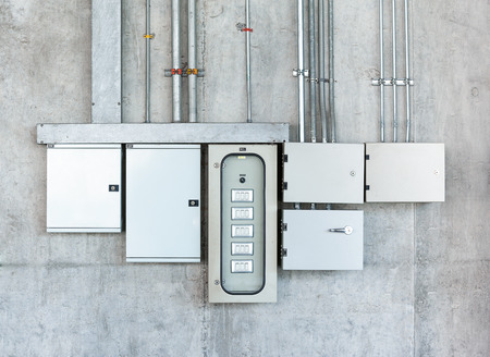 Photo pour Electrical switch gear and circuit breakers - image libre de droit