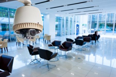 Foto de CCTV or surveillance operating in office building - Imagen libre de derechos
