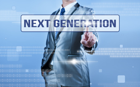 Foto de businessman making decision on next generation - Imagen libre de derechos