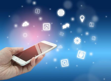 Foto de internet concept of smart phone - Imagen libre de derechos