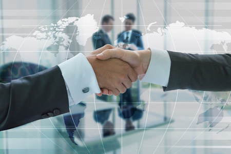 Photo for Business handshake, business globalization concept - Royalty Free Image