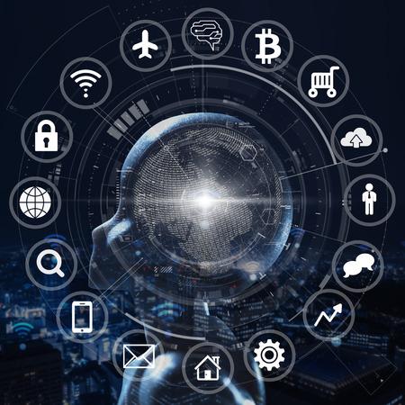 Foto de AI, Artificial intelligence conceptual of next generation technology - Imagen libre de derechos