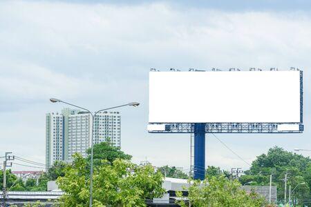 Foto de Blank huge ads sign - Imagen libre de derechos