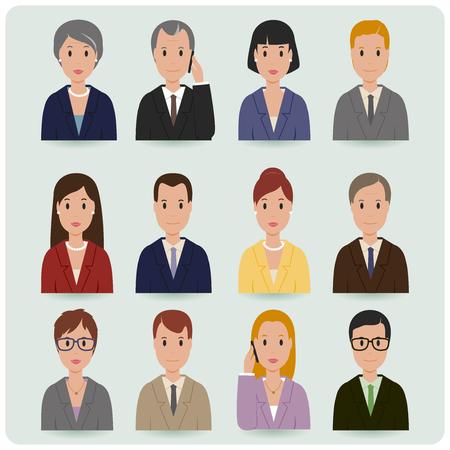 Photo pour Business men and women - image libre de droit