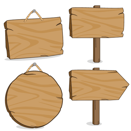 Illustration pour Wooden signs - image libre de droit