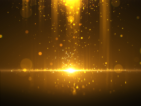 Photo for Golden bokeh glamour abstract background - Royalty Free Image