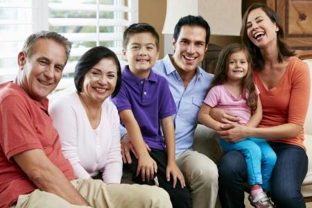 Photo pour Portrait Of Multi Generation Family - image libre de droit