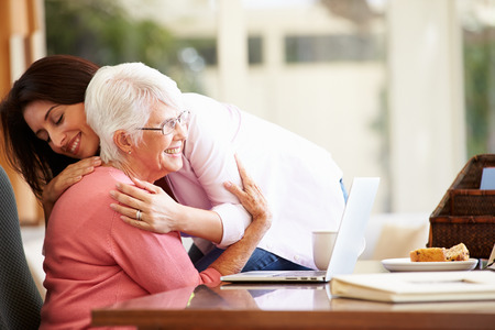 Photo for Senior Mother Being Comforted By Adult Daughter - Royalty Free Image