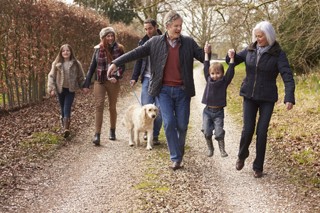 Photo for Multi Generation Family On Countryside Walk - Royalty Free Image