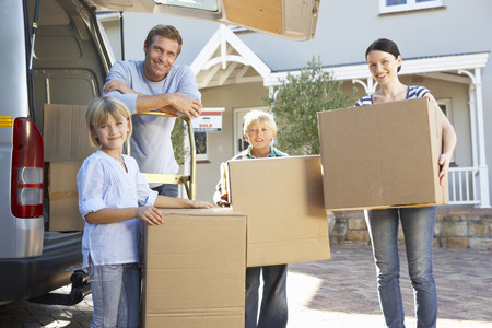 Photo for Family moving house - Royalty Free Image