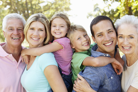 Photo pour Three generation family in the country - image libre de droit