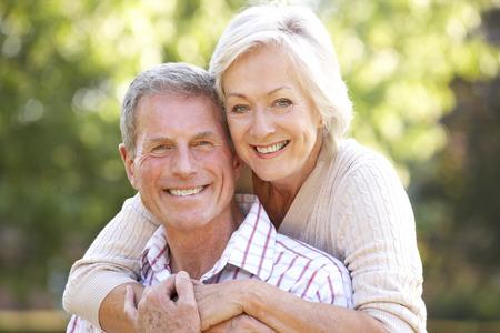 Photo for Senior couple outdoors - Royalty Free Image