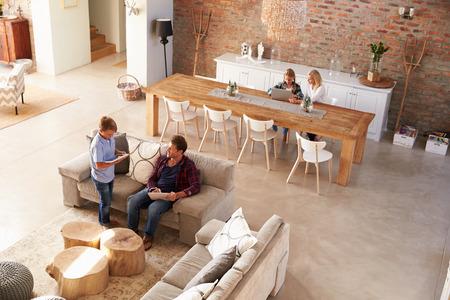 Photo pour Family time at home - image libre de droit
