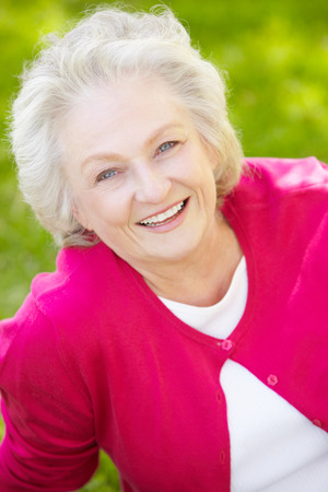 Photo for Senior woman outdoors - Royalty Free Image