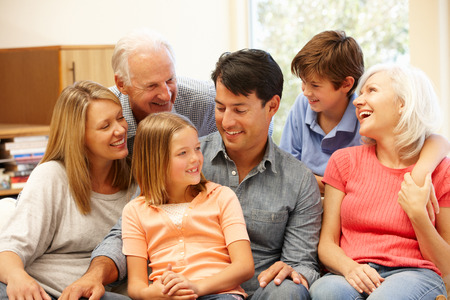 Photo pour Multi-generation family portrait - image libre de droit