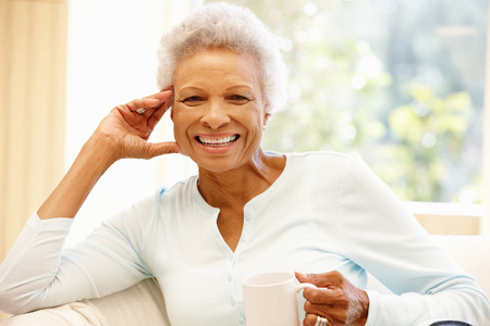 Foto per Senior African American woman at home - Immagine Royalty Free