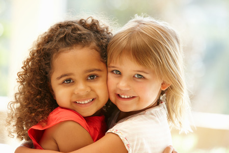 Photo for Two little girls hugging - Royalty Free Image