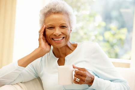 Photo for Senior African American woman at home - Royalty Free Image