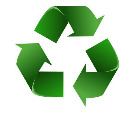 Ilustración de Recycle Symbol.Isolated On White Background. Vector Illustration - Imagen libre de derechos