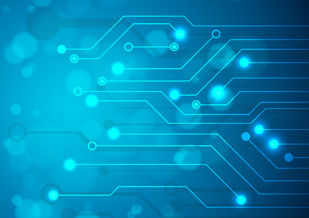 Photo for Abstract technology circuit board, Vector background. - Royalty Free Image