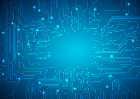 Illustration pour Technological vector background with a circuit board texture - image libre de droit