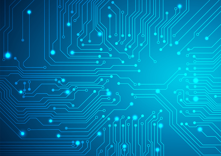 Foto per Technological vector background with a circuit board texture - Immagine Royalty Free
