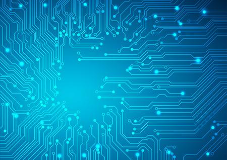 Ilustración de Technological vector background with a circuit board texture - Imagen libre de derechos