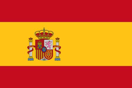 Illustration pour Official vector flag of Spain . - image libre de droit