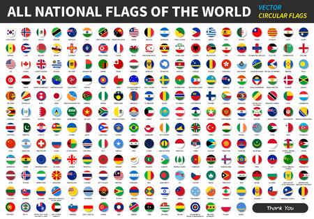 Illustration pour All official national flags of the world . circular design . Vector . - image libre de droit
