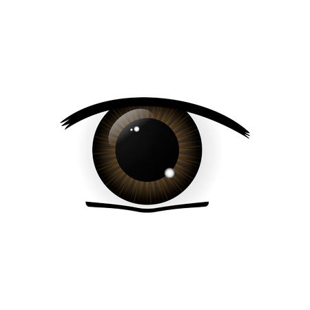 Eye. Human eyes closeup. Beautiful big eyes. Illustration