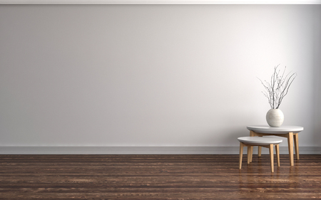 Photo for empty white interior. 3d illustration - Royalty Free Image