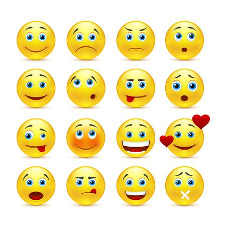 Illustrazione per emotional face icons - Immagini Royalty Free