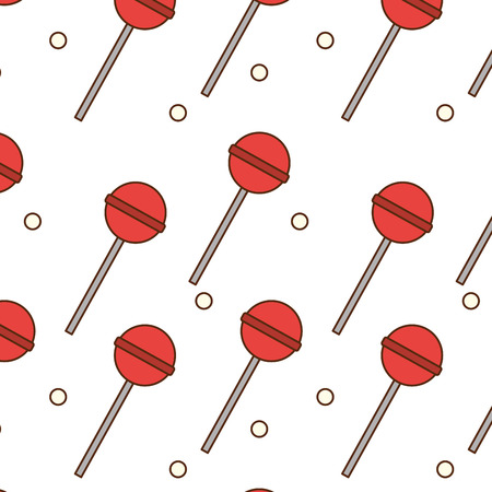 Illustration pour Lolly pop background of candy sweet sugar and caramel theme Isolated design Vector illustration - image libre de droit