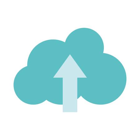 Illustration pour Colorful cloud data connection loading server vector illustration. - image libre de droit