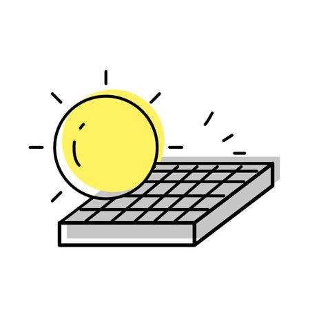Ilustración de moved color solar energy design to ecology care - Imagen libre de derechos