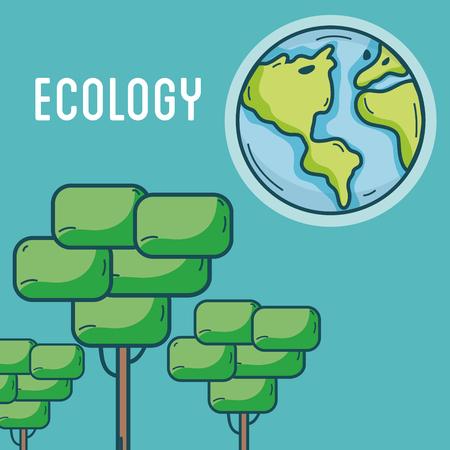 Illustration pour Ecology green world concept - image libre de droit