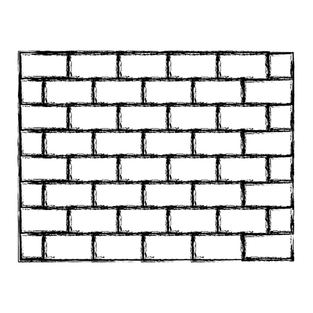 Illustration for grunge structure brick wall architecture block - Royalty Free Image