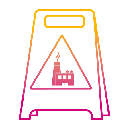 Illustration pour degraded line plastic caution emblem factory pollution vector illustration - image libre de droit