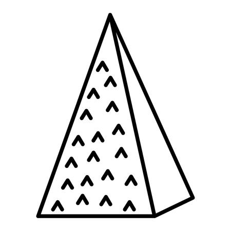 Ilustración de line isometric ecology mountain natural style vector illustration - Imagen libre de derechos