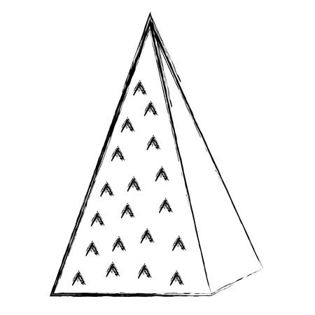 Ilustración de grunge isometric ecology mountain natural style vector illustration - Imagen libre de derechos