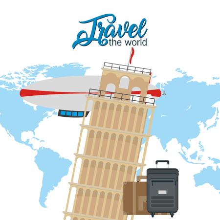 Illustration pour Travel the world - image libre de droit