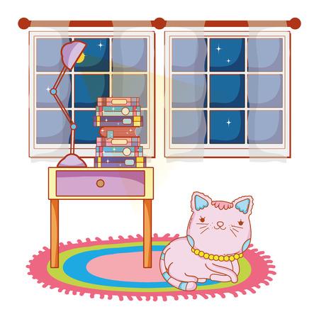 Illustrazione per kitty cat cartoon - Immagini Royalty Free